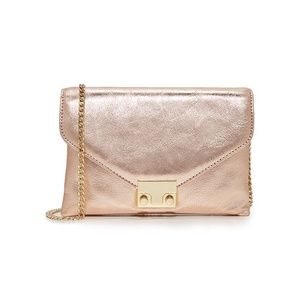 Loeffler Randall Junior Lock Clutch in Rose Gold